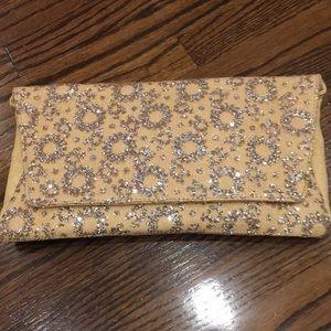Deuxe Lux Brand New Straw Clutch w sequins/glitter